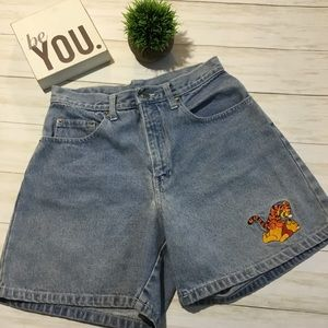Vintage 80s Disney Pooh high waisted denim shorts